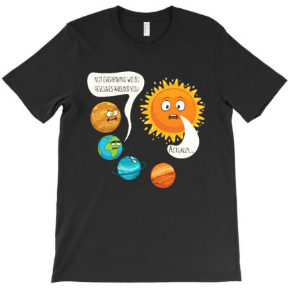 Planets To Sun Angry T-shirt Designed By Star Store