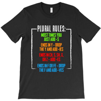Plural Rules Typography T-shirt Designed By Star Store