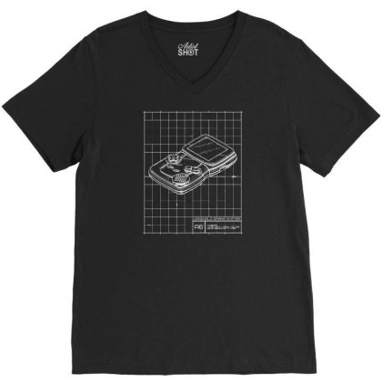 Handheld Gaming System V-neck Tee Designed By Ika
