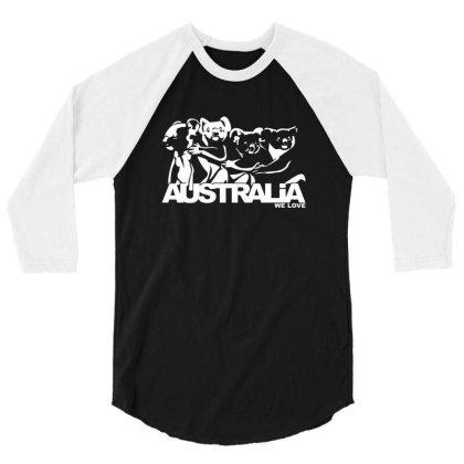 Help Koalas Conservation 3/4 Sleeve Shirt Designed By Citra Karinas