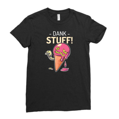 Dank  Stuff Ladies Fitted T-shirt Designed By Ika
