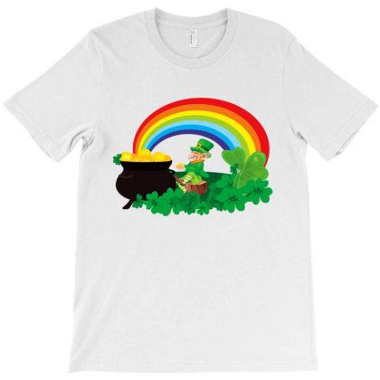 Rainbow Pot Of Gold Leprechaun T-shirt Designed By Honey Shop