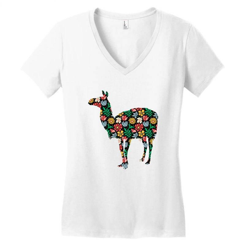 Llama Women's V-neck T-shirt | Artistshot