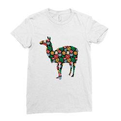 llama Ladies Fitted T-Shirt | Artistshot