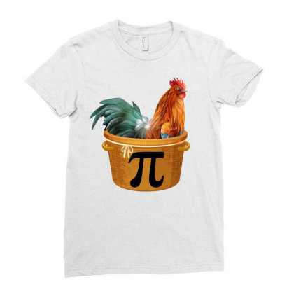 Chicken Pot Pi Day Ladies Fitted T-shirt Designed By Badaudesign
