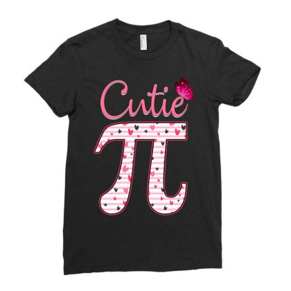 Cutie Pi Ladies Fitted T-shirt Designed By Badaudesign