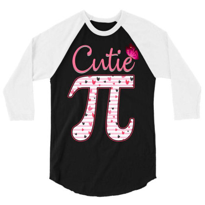 Cutie Pi 3/4 Sleeve Shirt Designed By Badaudesign