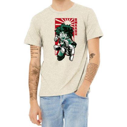 Boku No Hero Heather T-shirt Designed By Paísdelasmáquinas