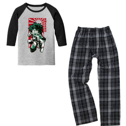 Boku No Hero Youth 3/4 Sleeve Pajama Set Designed By Paísdelasmáquinas