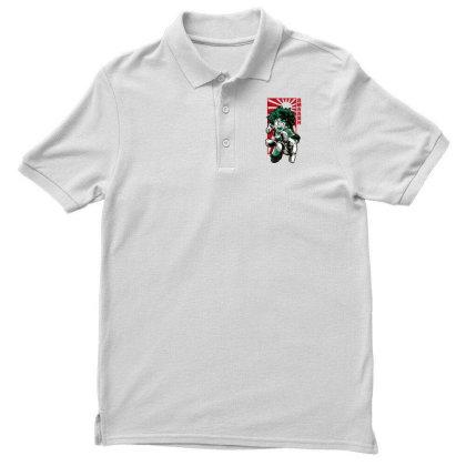 Boku No Hero Men's Polo Shirt Designed By Paísdelasmáquinas
