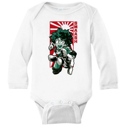 Boku No Hero Long Sleeve Baby Bodysuit Designed By Paísdelasmáquinas