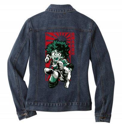 Boku No Hero Ladies Denim Jacket Designed By Paísdelasmáquinas