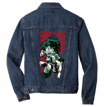 Boku No Hero Men Denim Jacket Designed By Paísdelasmáquinas