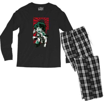 Boku No Hero Men's Long Sleeve Pajama Set Designed By Paísdelasmáquinas