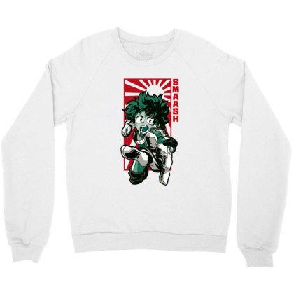 Boku No Hero Crewneck Sweatshirt Designed By Paísdelasmáquinas