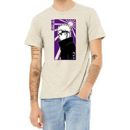 Pain Naruto Heather T-shirt Designed By Paísdelasmáquinas