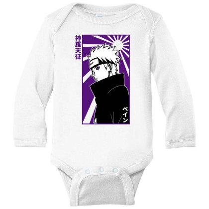 Pain Naruto Long Sleeve Baby Bodysuit Designed By Paísdelasmáquinas