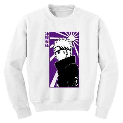 Pain Naruto Youth Sweatshirt Designed By Paísdelasmáquinas