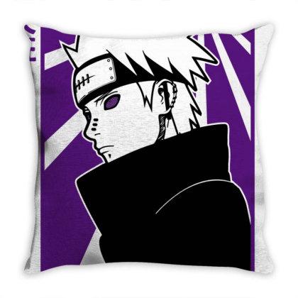 Pain Naruto Throw Pillow Designed By Paísdelasmáquinas