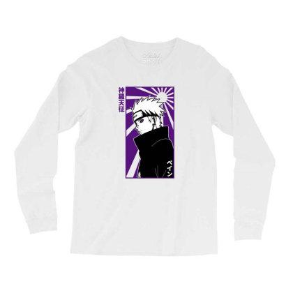 Pain Naruto Long Sleeve Shirts Designed By Paísdelasmáquinas