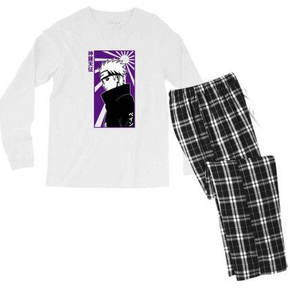 Pain Naruto Men's Long Sleeve Pajama Set Designed By Paísdelasmáquinas