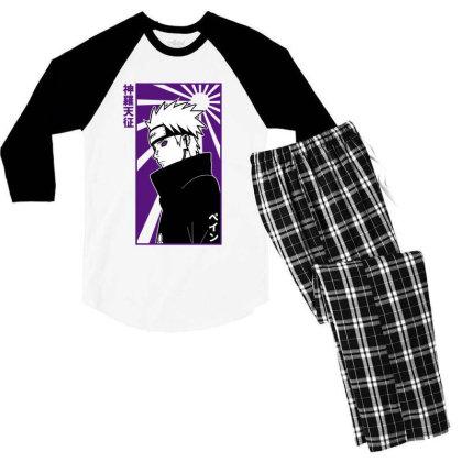 Pain Naruto Men's 3/4 Sleeve Pajama Set Designed By Paísdelasmáquinas
