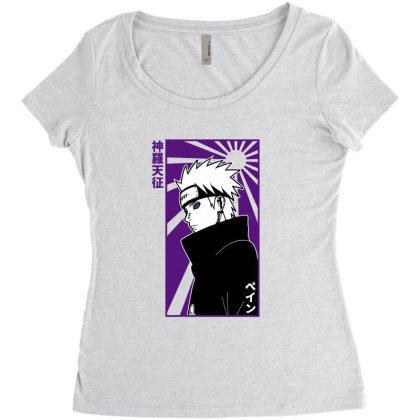 Pain Naruto Women's Triblend Scoop T-shirt Designed By Paísdelasmáquinas