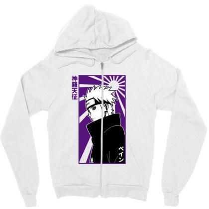 Pain Naruto Zipper Hoodie Designed By Paísdelasmáquinas