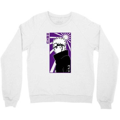 Pain Naruto Crewneck Sweatshirt Designed By Paísdelasmáquinas