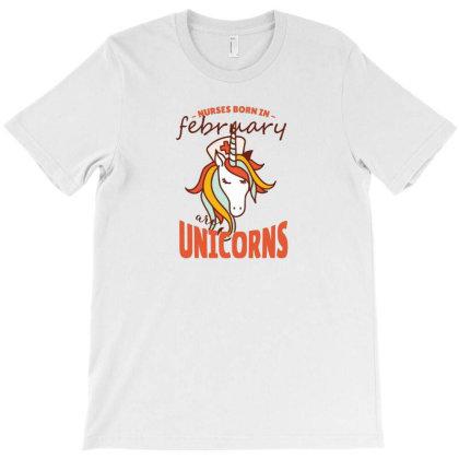 February Nurse Unicorn T-shirt Designed By Hoainv