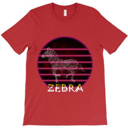 Retro Vintage Zebra T-shirt Designed By Dropshop