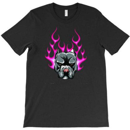 Bull Dog Flame Tattoo In Beast Mode Vector T-shirt Designed By Mehar Badshah