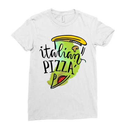 Italian Pizza Ladies Fitted T-shirt Designed By Hoainv