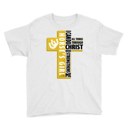 I Can Do All Things Through Christ Horse For Light Youth Tee Designed By Gurkan