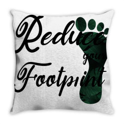 Climate Change Reduce Your Carbon Footprint Gift Throw Pillow | Artistshot