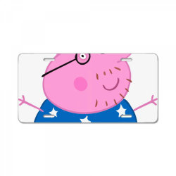 DADDY PIG CHAMPION License Plate | Artistshot