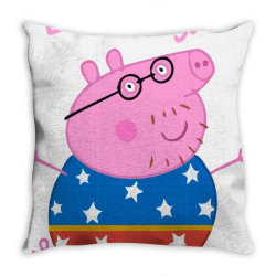 DADDY PIG CHAMPION Throw Pillow | Artistshot