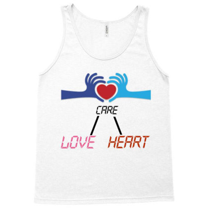 Care Heart Love Tank Top Designed By Oht