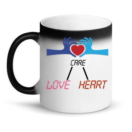 Care Heart Love Magic Mug Designed By Oht