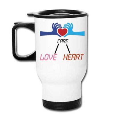 Care Heart Love Travel Mug Designed By Oht