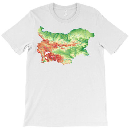 Bulgaria Map Natural Physical T-shirt Designed By Salmanaz