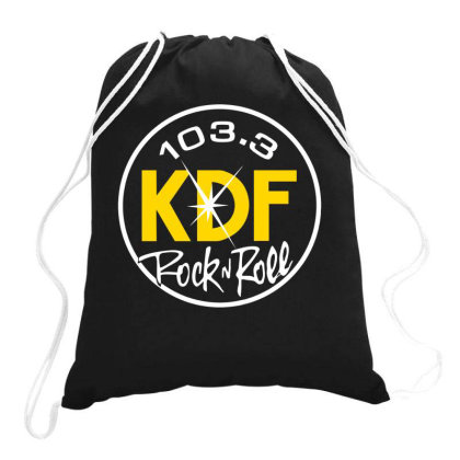 103.3 Kdf Rock N Roll Art Drawstring Bags Designed By Coolkids