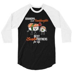 grandpa and granddaughter best sushi partner 3/4 Sleeve Shirt   Artistshot
