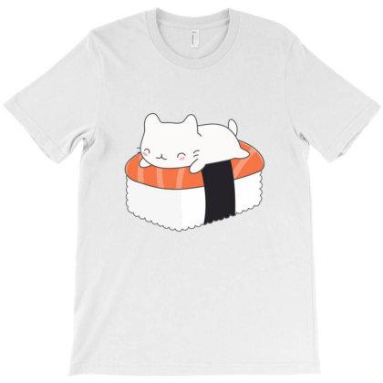 Kawaii Sushi Cat T-shirt Designed By Hoainv