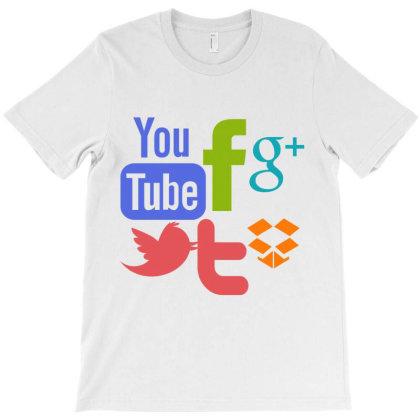 Social Media Abstract T-shirt Designed By Thakurji