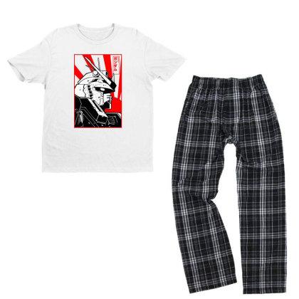 Gundam Head Youth T-shirt Pajama Set Designed By Paísdelasmáquinas