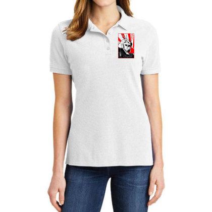 Gundam Head Ladies Polo Shirt Designed By Paísdelasmáquinas