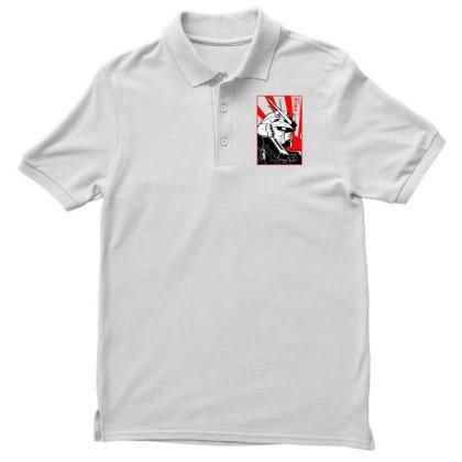 Gundam Head Men's Polo Shirt Designed By Paísdelasmáquinas