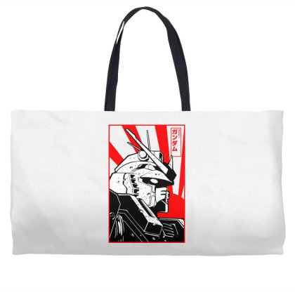 Gundam Head Weekender Totes Designed By Paísdelasmáquinas