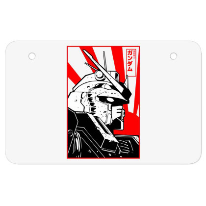 Gundam Head Atv License Plate Designed By Paísdelasmáquinas